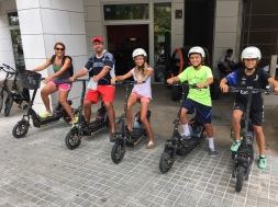 The kids loved the electric scooters