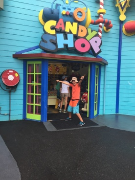 Max enjoyed the Candy Shop in Dreamworld
