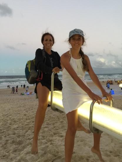 Musical seesaws lit up the beach