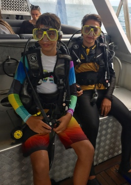 Ready for a dive off the Great Barrier Reef