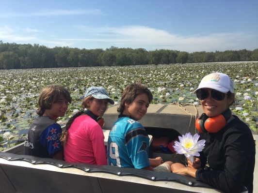First Airboat Ride in flooded wet plains