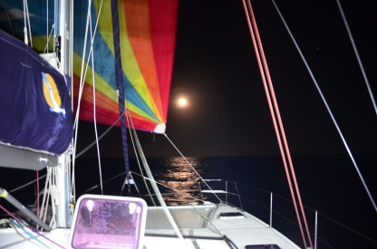 Many days/nights with spinnaker running