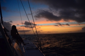 Great sunsets at sea
