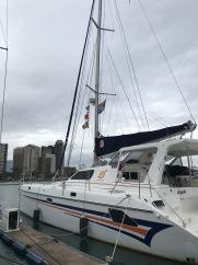 Alyosha sporting her colors in Durban