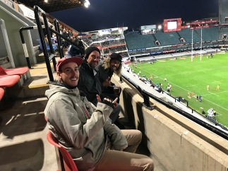 At the rugby match