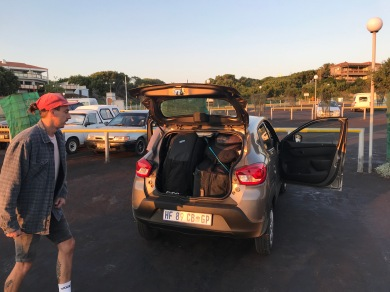 Bas and Stu actually fit all of their gear into that small rental car